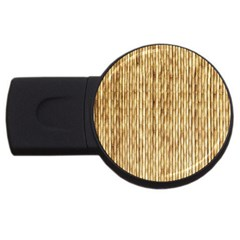 LIGHT BEIGE BAMBOO USB Flash Drive Round (1 GB)