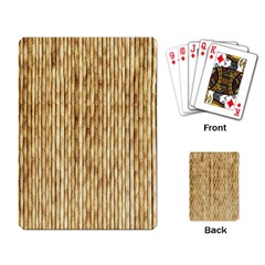 LIGHT BEIGE BAMBOO Playing Card
