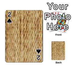 Light Beige Bamboo Playing Cards 54 Designs