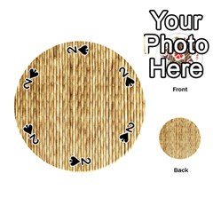 Light Beige Bamboo Playing Cards 54 (round)
