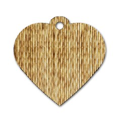 LIGHT BEIGE BAMBOO Dog Tag Heart (One Side)