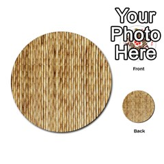LIGHT BEIGE BAMBOO Multi-purpose Cards (Round)