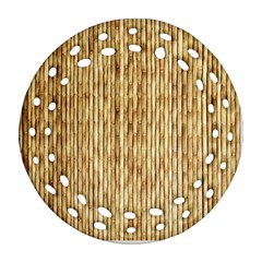 Light Beige Bamboo Ornament (round Filigree)