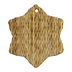 Light Beige Bamboo Ornament (snowflake)
