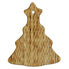 Light Beige Bamboo Ornament (christmas Tree)