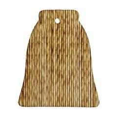Light Beige Bamboo Bell Ornament (2 Sides)