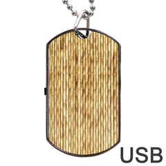 Light Beige Bamboo Dog Tag Usb Flash (one Side)