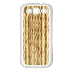 LIGHT BEIGE BAMBOO Samsung Galaxy S3 Back Case (White)