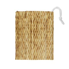 Light Beige Bamboo Drawstring Pouches (large)