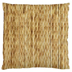 LIGHT BEIGE BAMBOO Standard Flano Cushion Cases (One Side)