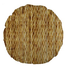 LIGHT BEIGE BAMBOO Large 18  Premium Flano Round Cushions
