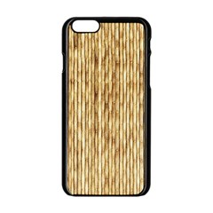 Light Beige Bamboo Apple Iphone 6/6s Black Enamel Case