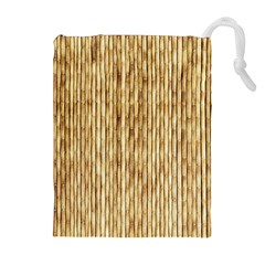 Light Beige Bamboo Drawstring Pouch (xl)