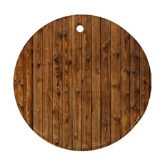 KNOTTY WOOD Ornament (Round)