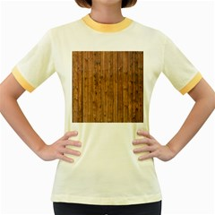 Knotty Wood Women s Fitted Ringer T Shirts