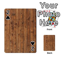 Knotty Wood Playing Cards 54 Designs