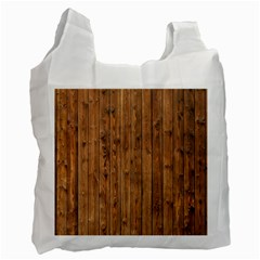 Knotty Wood Recycle Bag (one Side)