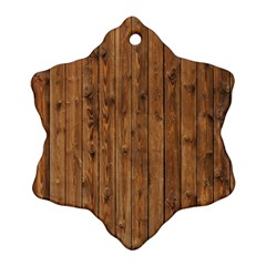Knotty Wood Snowflake Ornament (2 Side)