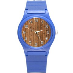 KNOTTY WOOD Round Plastic Sport Watch (S)