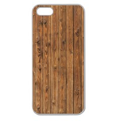 KNOTTY WOOD Apple Seamless iPhone 5 Case (Clear)