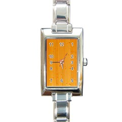 Honey Maple Rectangle Italian Charm Watches