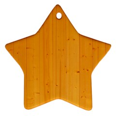 Honey Maple Ornament (star)