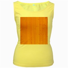 Honey Maple Women s Yellow Tank Tops
