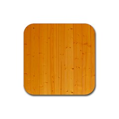 Honey Maple Rubber Square Coaster (4 Pack)