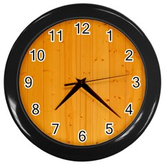 Honey Maple Wall Clocks (black)
