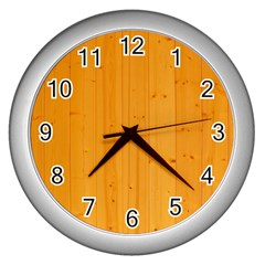 Honey Maple Wall Clocks (silver)