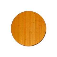 Honey Maple Rubber Round Coaster (4 Pack)