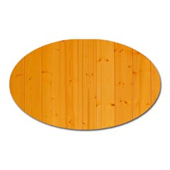Honey Maple Oval Magnet