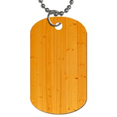 Honey Maple Dog Tag (two Sides)