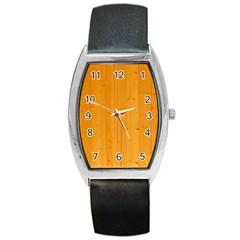 Honey Maple Barrel Metal Watches