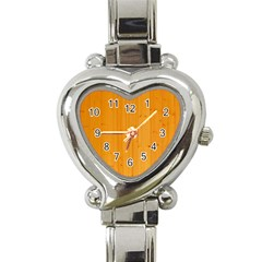 Honey Maple Heart Italian Charm Watch