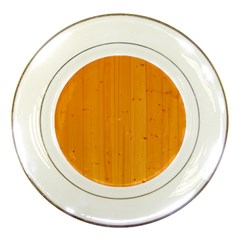 Honey Maple Porcelain Plates