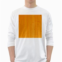 Honey Maple White Long Sleeve T Shirts