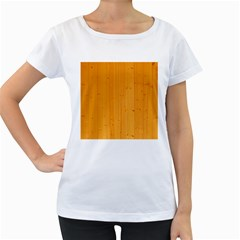 Honey Maple Women s Loose Fit T Shirt (white)
