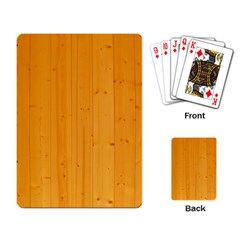 Honey Maple Playing Card