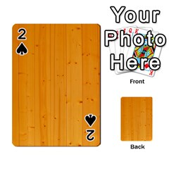 Honey Maple Playing Cards 54 Designs