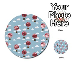 Hot Air Balloon Multi-purpose Cards (Round)
