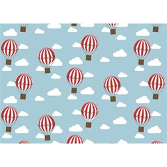 Hot Air Balloon Birthday Cake 3D Greeting Card (7x5)