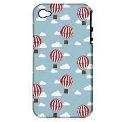 Hot Air Balloon Apple iPhone 4/4S Hardshell Case (PC+Silicone)