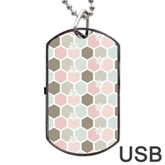 Spring Bee Dog Tag USB Flash (One Side)