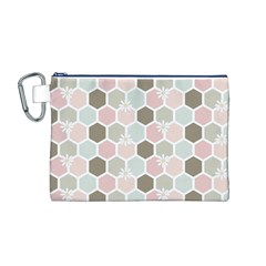 Spring Bee Canvas Cosmetic Bag (M)