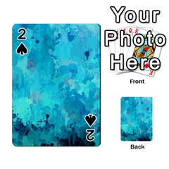 Splashes Of Color, Aqua Playing Cards 54 Designs