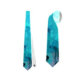 Splashes Of Color, Aqua Neckties (Two Side)
