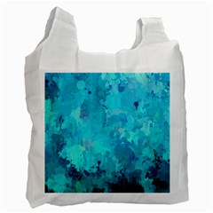 Splashes Of Color, Aqua Recycle Bag (One Side)
