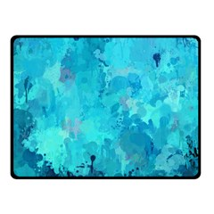 Splashes Of Color, Aqua Fleece Blanket (small)