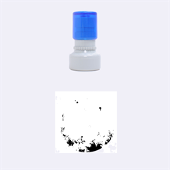 Splashes Of Color, Aqua Rubber Round Stamps (Small)